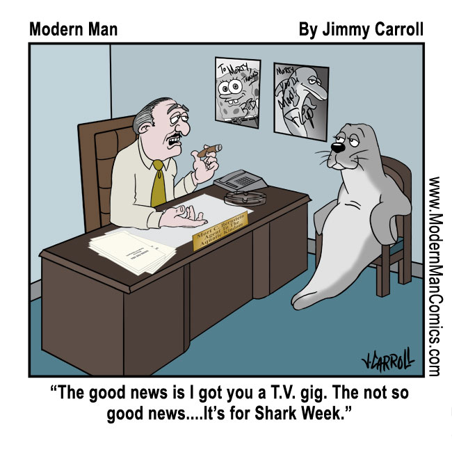 Shark Week By Jimmy Carroll